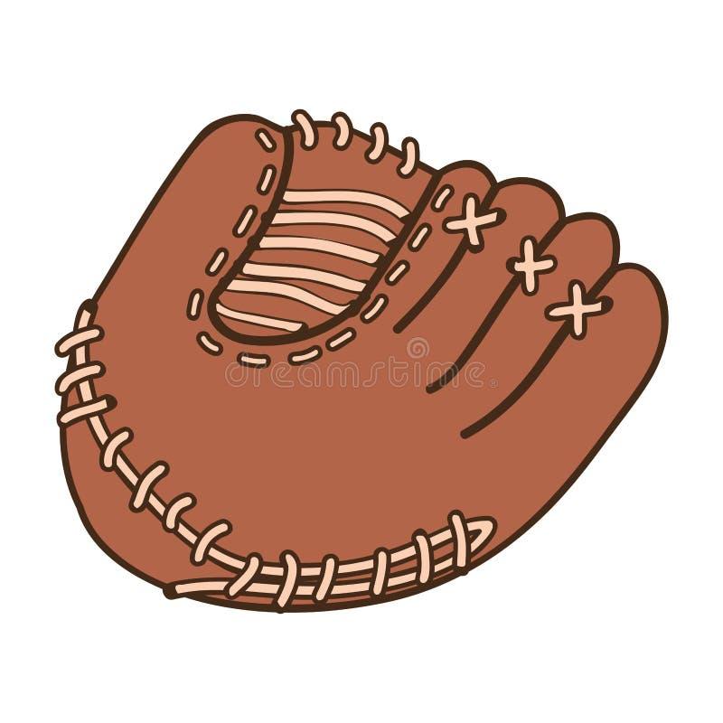 Immagine dell'icona del guanto mezzo di baseball illustrazione di stock