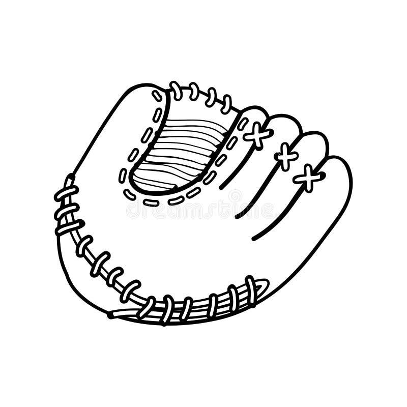 Immagine dell'icona del guanto mezzo di baseball royalty illustrazione gratis