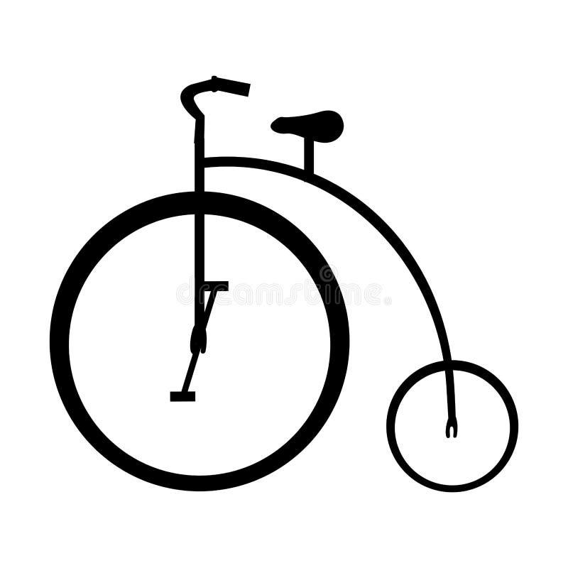 Immagine dell'icona del pittogramma della bicicletta o della bici illustrazione di stock