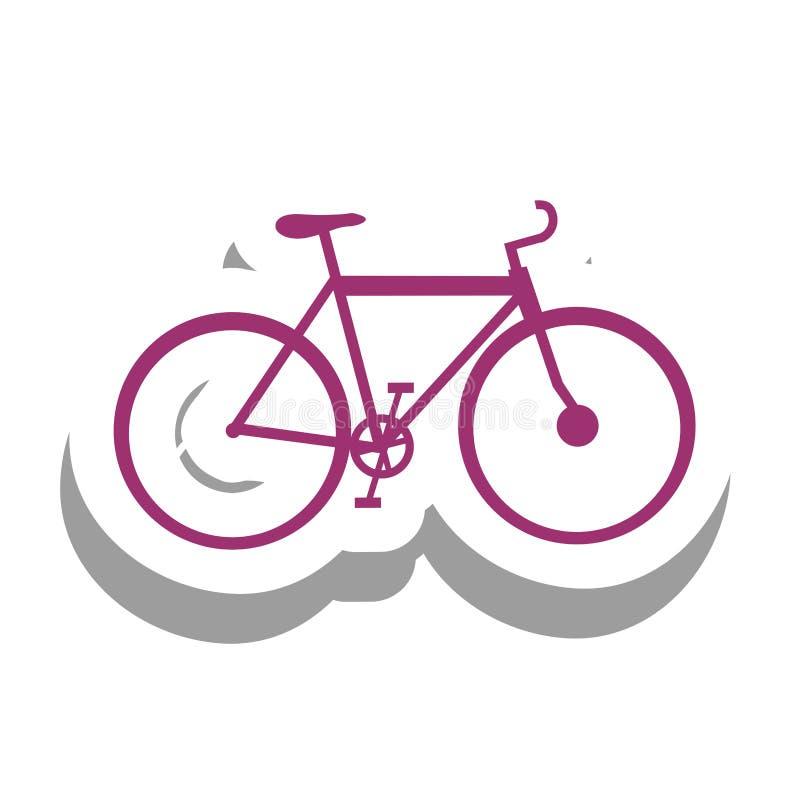 Immagine dell'icona del pittogramma della bicicletta o della bici royalty illustrazione gratis