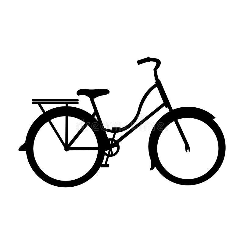 Immagine dell'icona del pittogramma della bicicletta o della bici illustrazione vettoriale