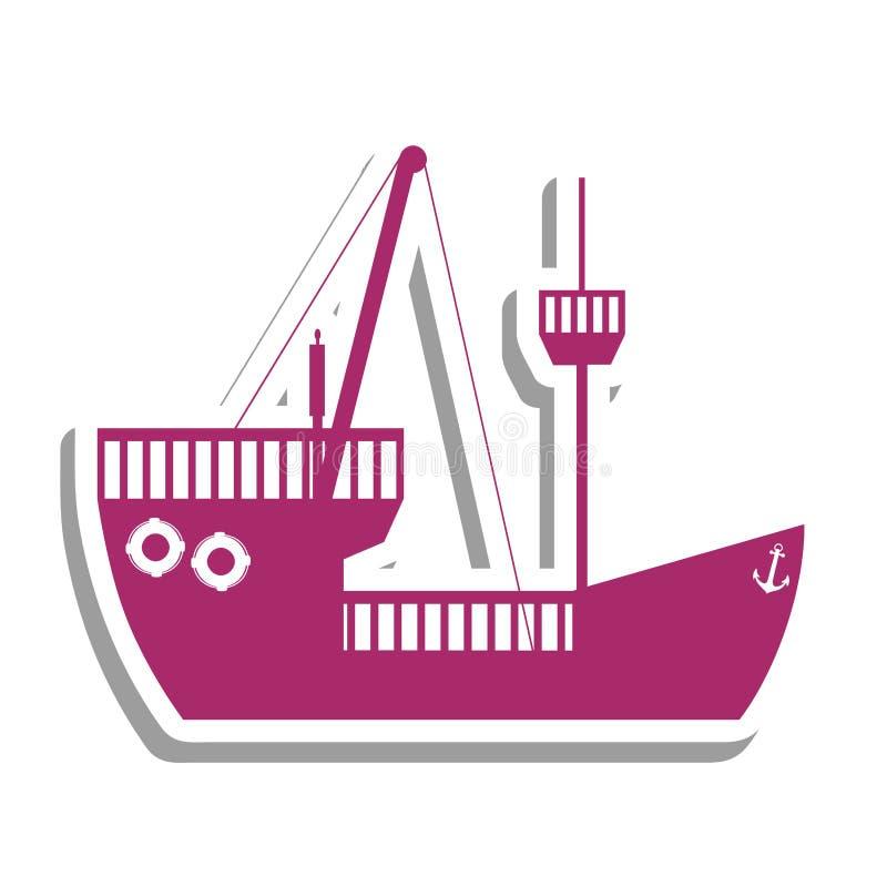 Immagine dell'icona del pittogramma della nave o della barca royalty illustrazione gratis