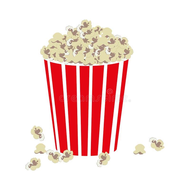 Immagine dell'icona del popcorn di film illustrazione di stock