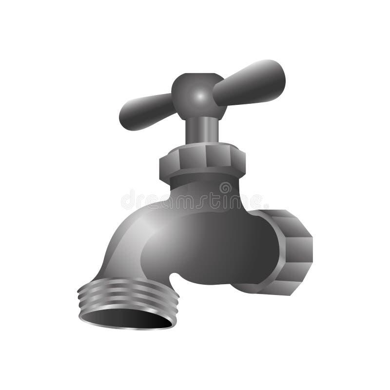 Immagine dell'icona del rubinetto o del rubinetto royalty illustrazione gratis
