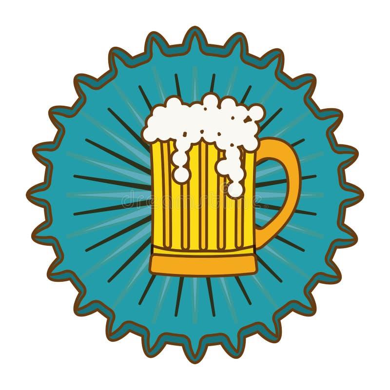 immagine dell'icona dell'emblema del cappuccio della birra royalty illustrazione gratis