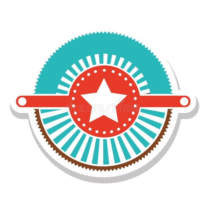 Immagine dell'icona dell'etichetta o dell'emblema illustrazione di stock