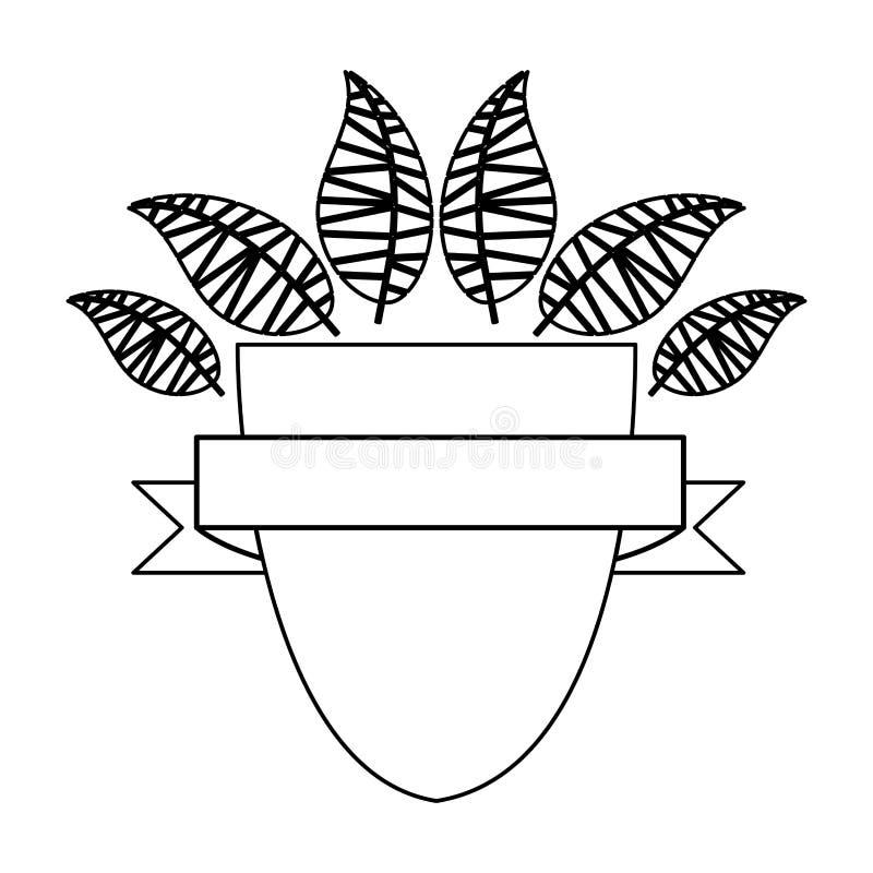 Immagine dell'icona dell'etichetta o dell'emblema illustrazione vettoriale