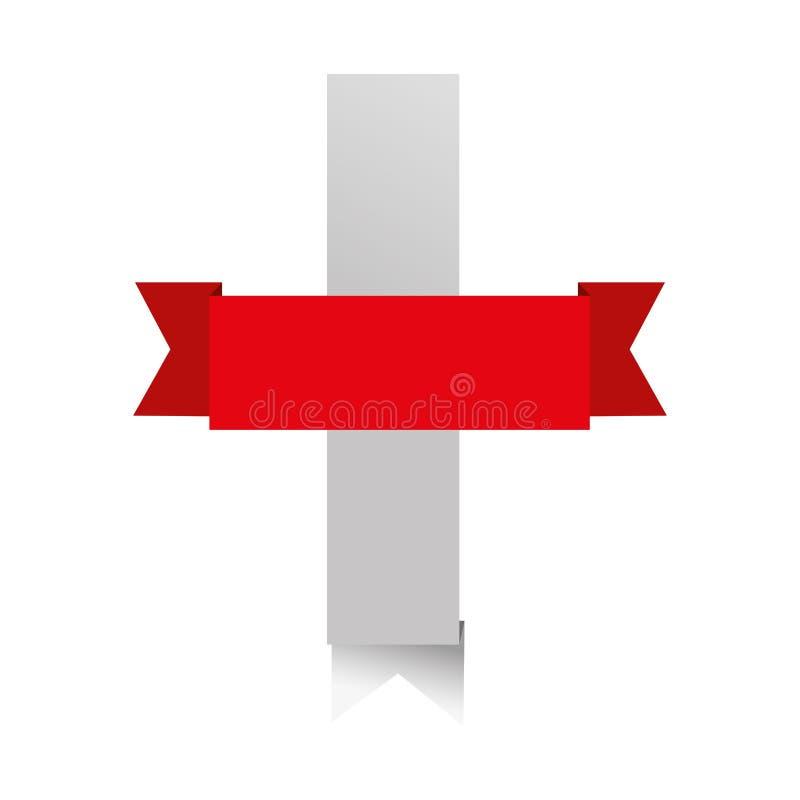 Immagine dell'icona dell'insegna del nastro illustrazione vettoriale