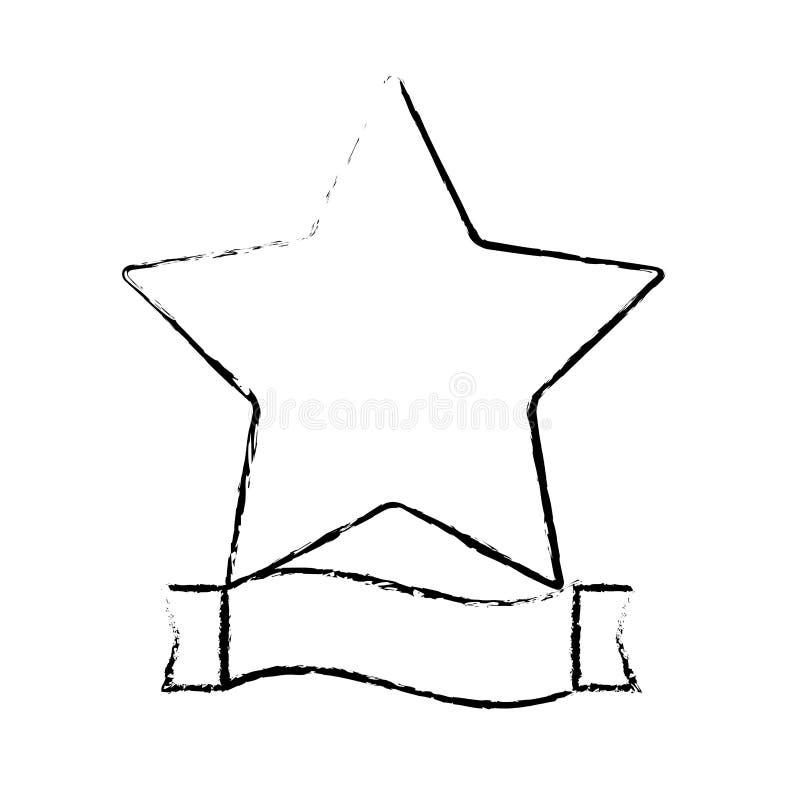 immagine dell'icona dell'insegna del nastro e della stella illustrazione di stock