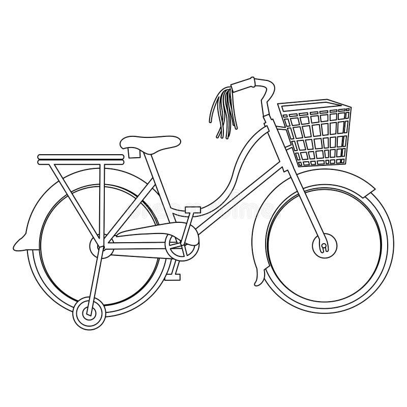 Immagine dell'icona della bicicletta o della bici illustrazione vettoriale