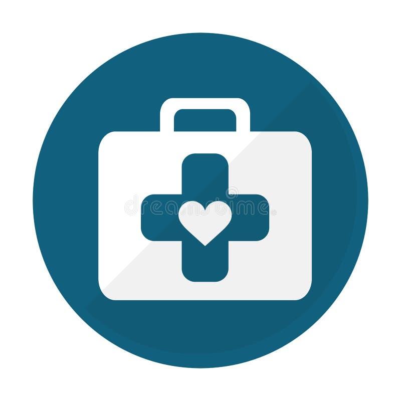 Immagine dell'icona della cassetta di pronto soccorso illustrazione di stock