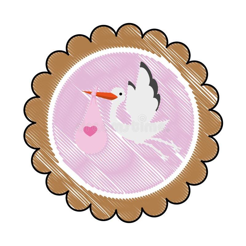 immagine dell'icona della doccia di bambino royalty illustrazione gratis