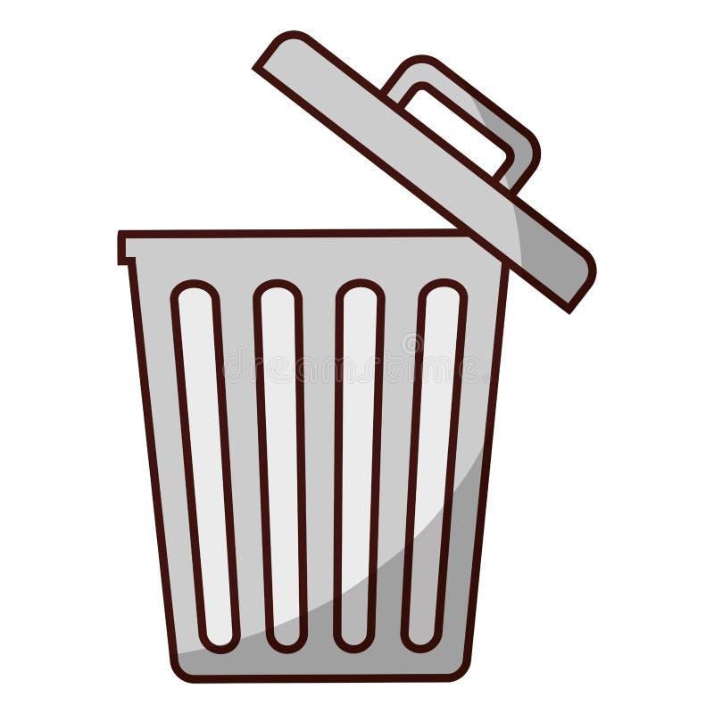 Immagine dell'icona della pattumiera illustrazione vettoriale