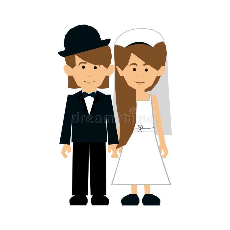 Immagine dell'icona delle coppie della persona appena sposata royalty illustrazione gratis