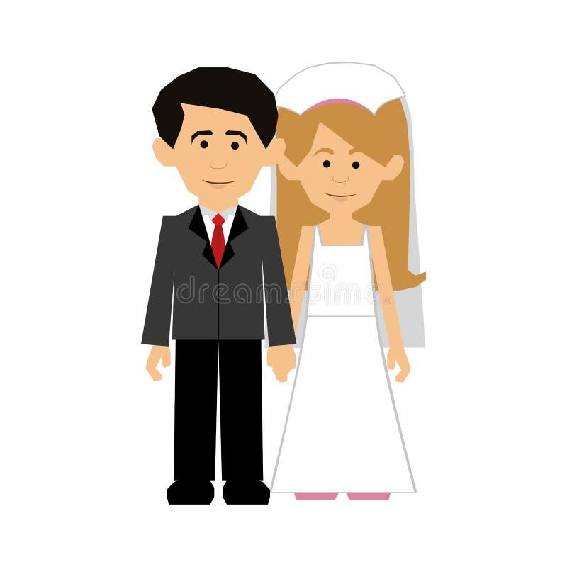 Immagine dell'icona delle coppie della persona appena sposata illustrazione vettoriale