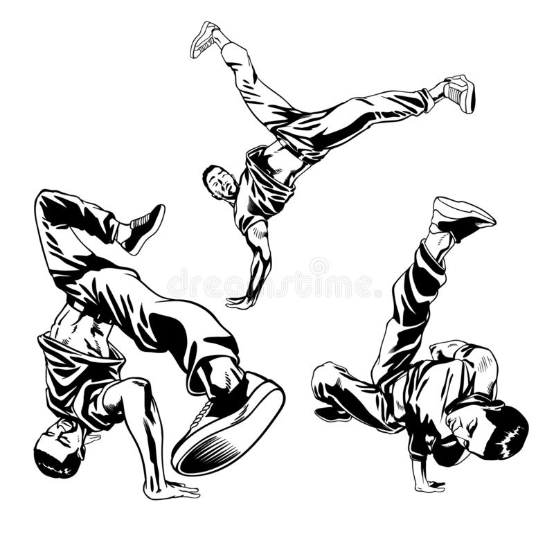 Immagine dell'insieme del ballerino dei ragazzi illustrazione vettoriale