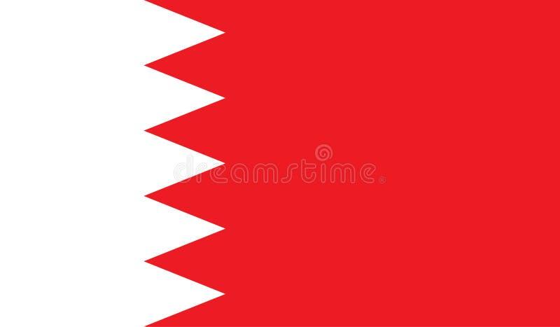 Immagine della bandiera del Bahrain illustrazione vettoriale