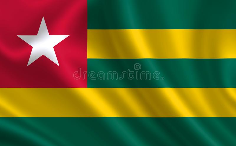 """Immagine della bandiera del Togo Serie """"Africa """" royalty illustrazione gratis"""
