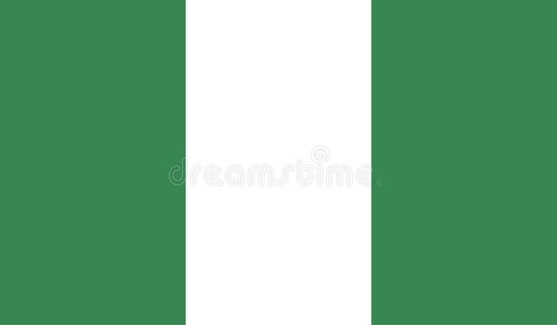 Immagine della bandiera della Nigeria royalty illustrazione gratis