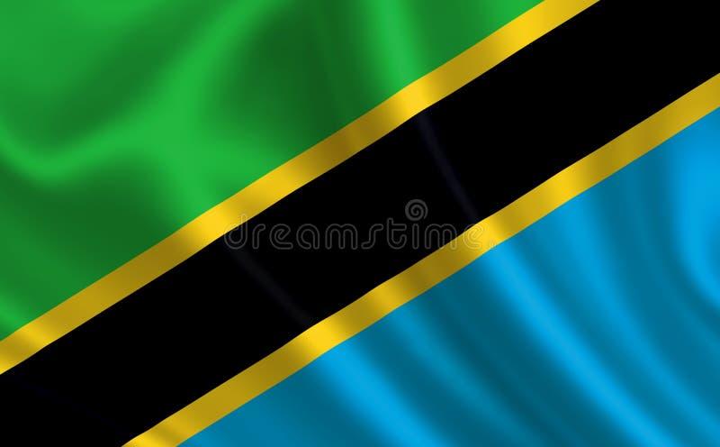 """Immagine della bandiera Tanzania Serie """"Africa """" royalty illustrazione gratis"""