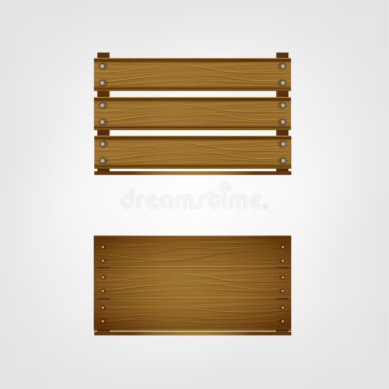 Immagine della cassa di legno royalty illustrazione gratis
