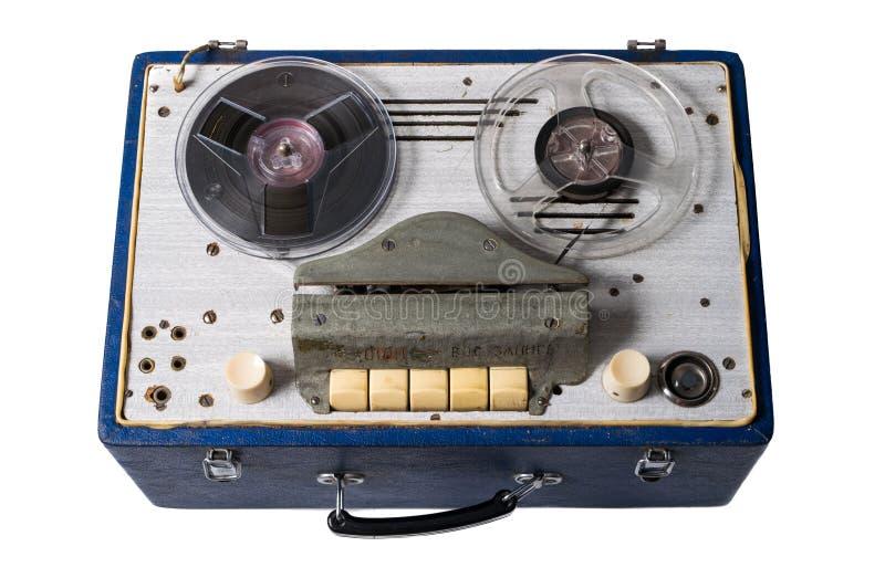 Immagine della cassetta audio magnetica sovietica casalinga d'annata bobina-a-ree fotografia stock libera da diritti