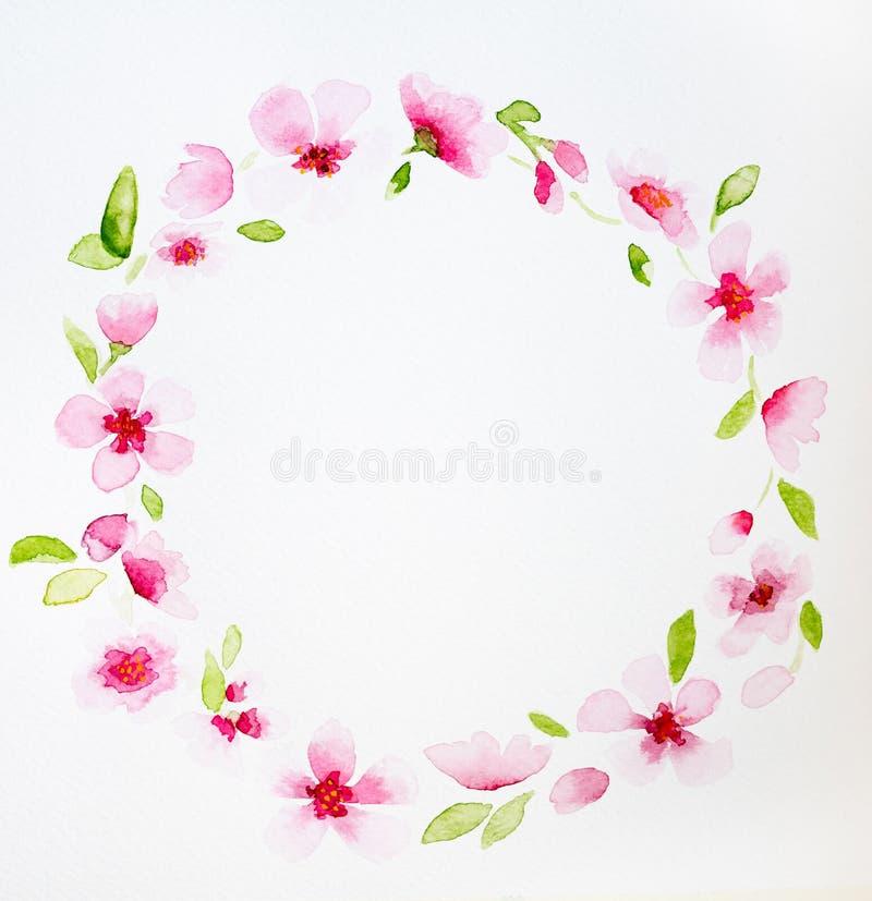 Immagine della corona floreale illustrazione di stock