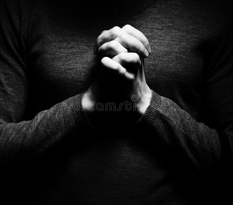 Immagine della preghiera fotografia stock