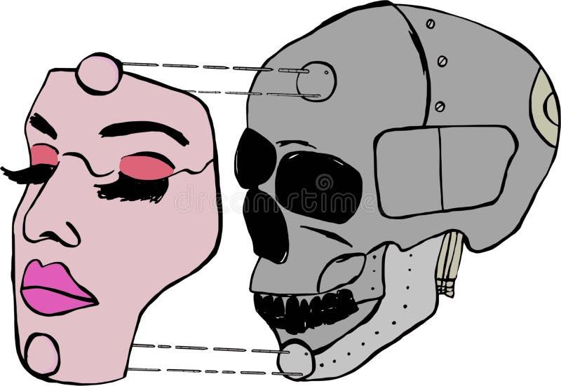 Immagine della ragazza del cyborg royalty illustrazione gratis