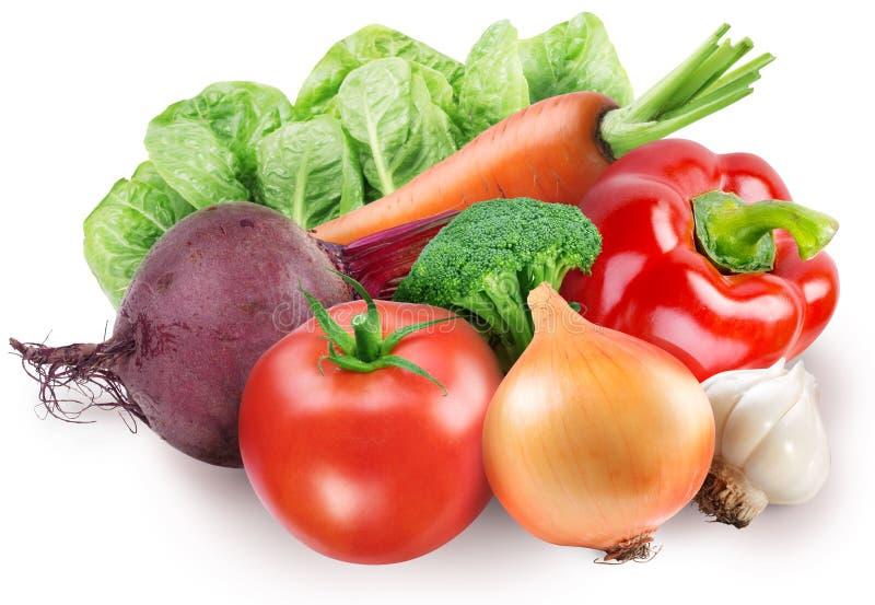 Immagine della verdura fresca su bianco immagini stock libere da diritti