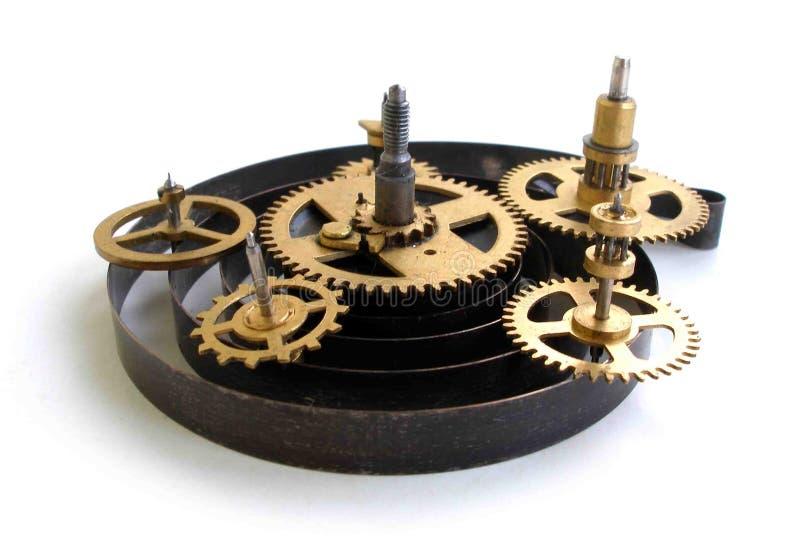 Immagine delle parti di un vecchio orologio immagini stock