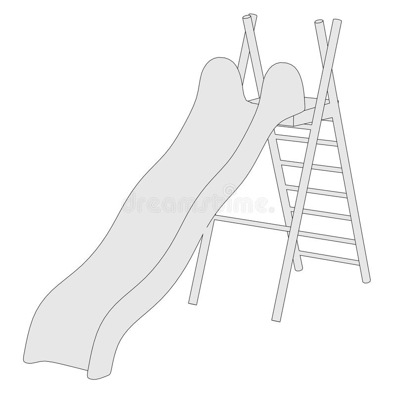 Immagine dello scorrevole - campo da giuoco royalty illustrazione gratis