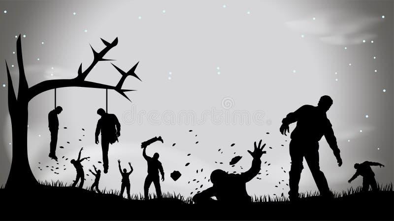 Immagine dello zombie party4 illustrazione di stock