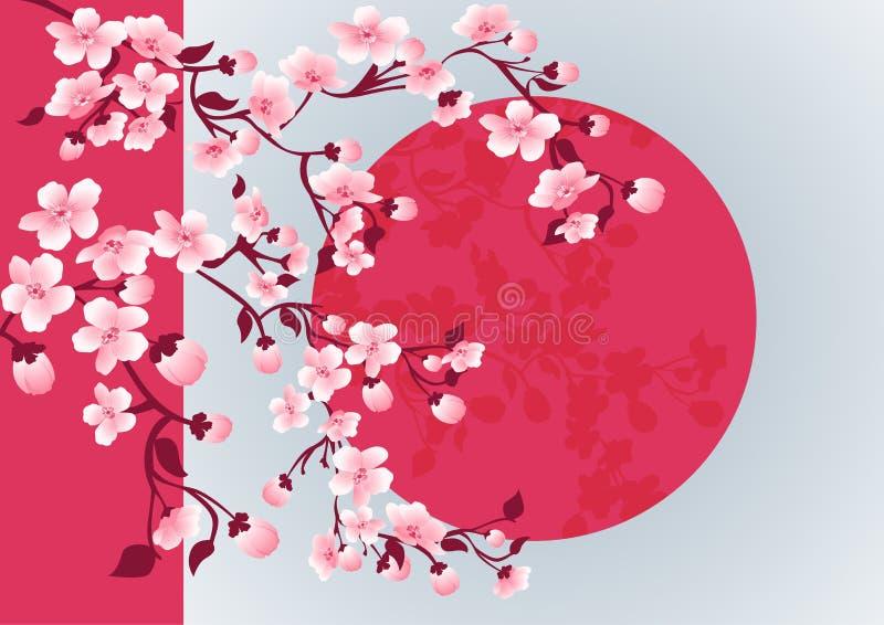 Immagine di arte del fiore di ciliegia Albero di sakura di vettore illustrazione vettoriale