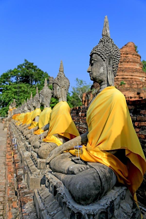 Immagine di Buddha in Ayudhaya, Tailandia immagine stock libera da diritti