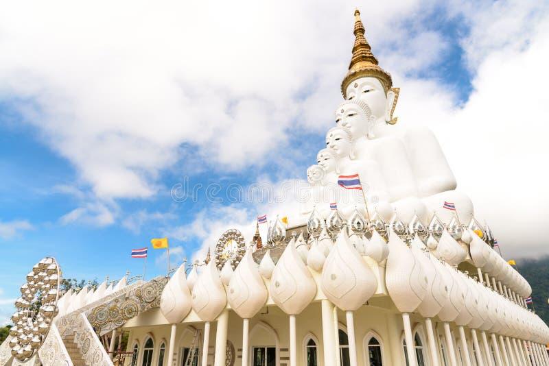 Immagine di Buddha di cinque bianchi fotografia stock
