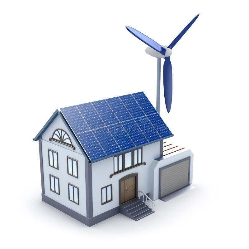 Immagine di casa 3D di Eco icona illustrazione di stock