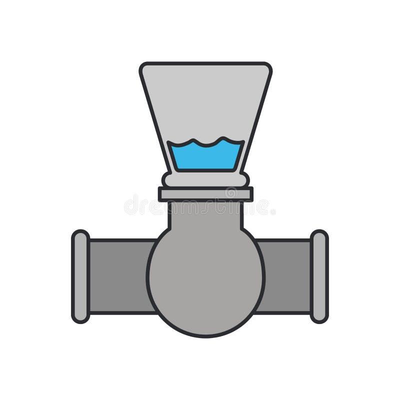 Immagine di colore dell'icona del rubinetto di chiusura illustrazione vettoriale