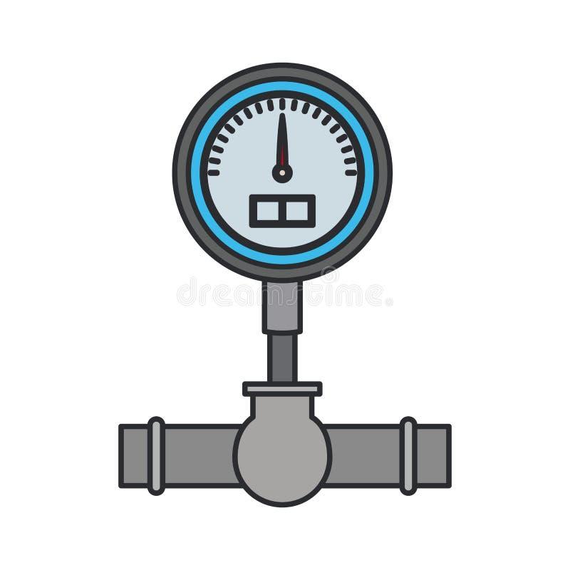 Immagine di colore dell'icona del rubinetto di chiusura illustrazione di stock