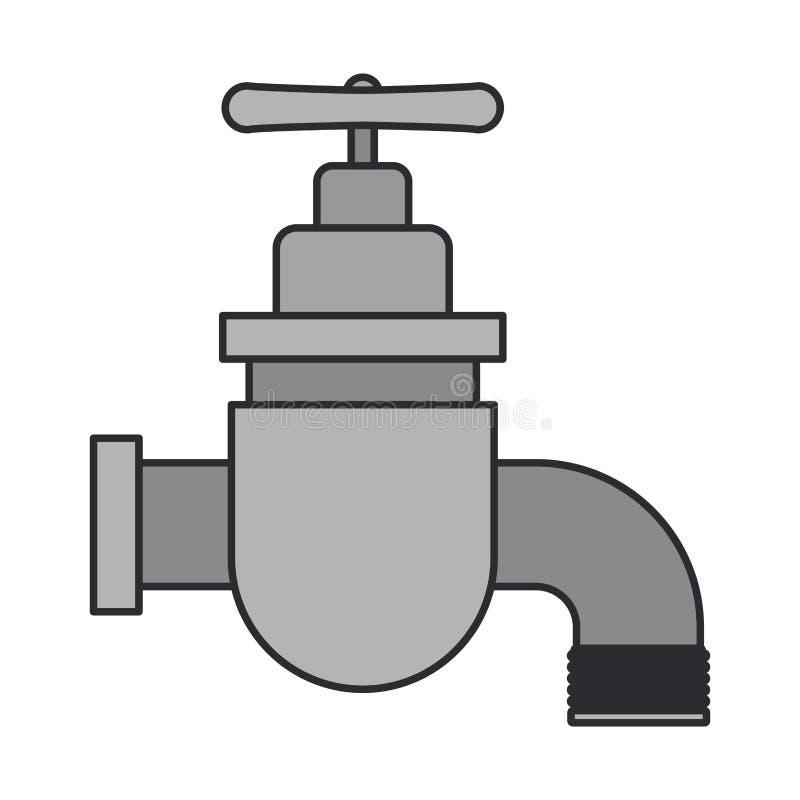 Immagine di colore dell'icona del rubinetto illustrazione di stock