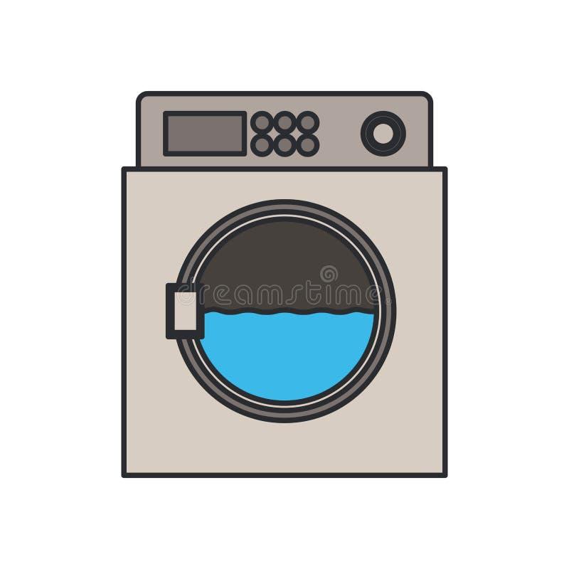 Immagine di colore della macchina del lavaggio in lavorazione royalty illustrazione gratis
