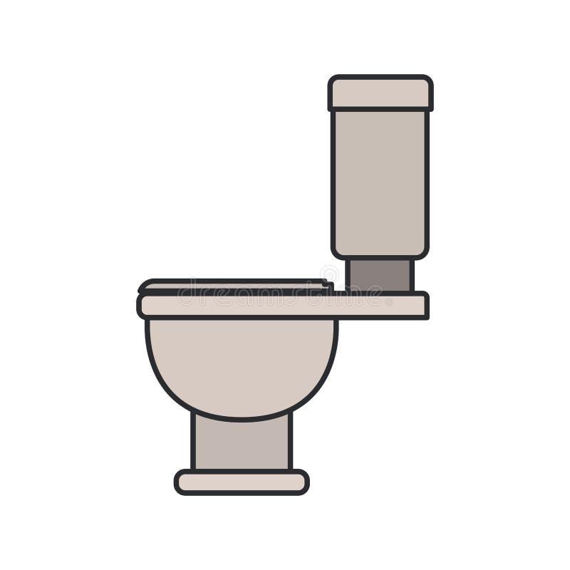 Immagine di colore della vista laterale dell'icona della toilette illustrazione vettoriale