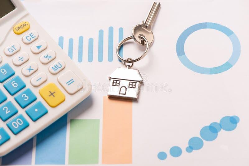 Immagine di concetto di affari di finanza di proprietà per il mercato finanziario immagini stock libere da diritti