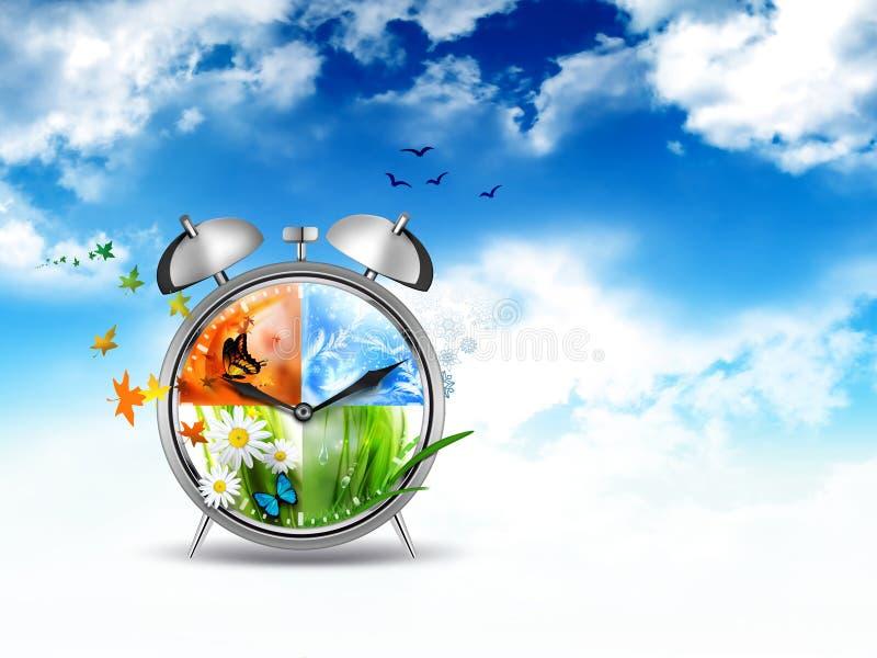 Immagine di concetto di tempo illustrazione vettoriale