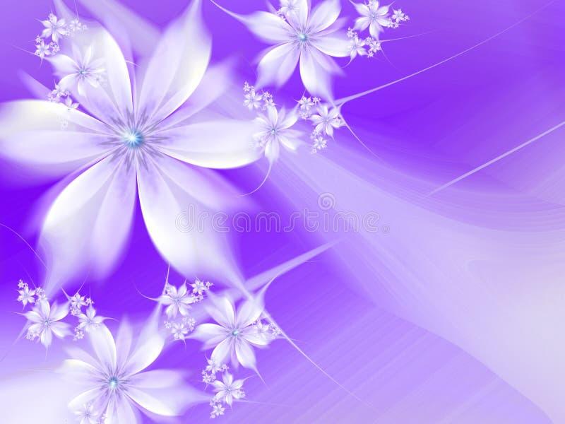 Immagine di frattale con i fiori Per il vostro testo colore porpora fotografie stock