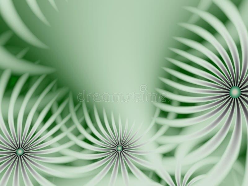 Immagine di frattale con i fiori Per il vostro testo Colore verde fotografie stock