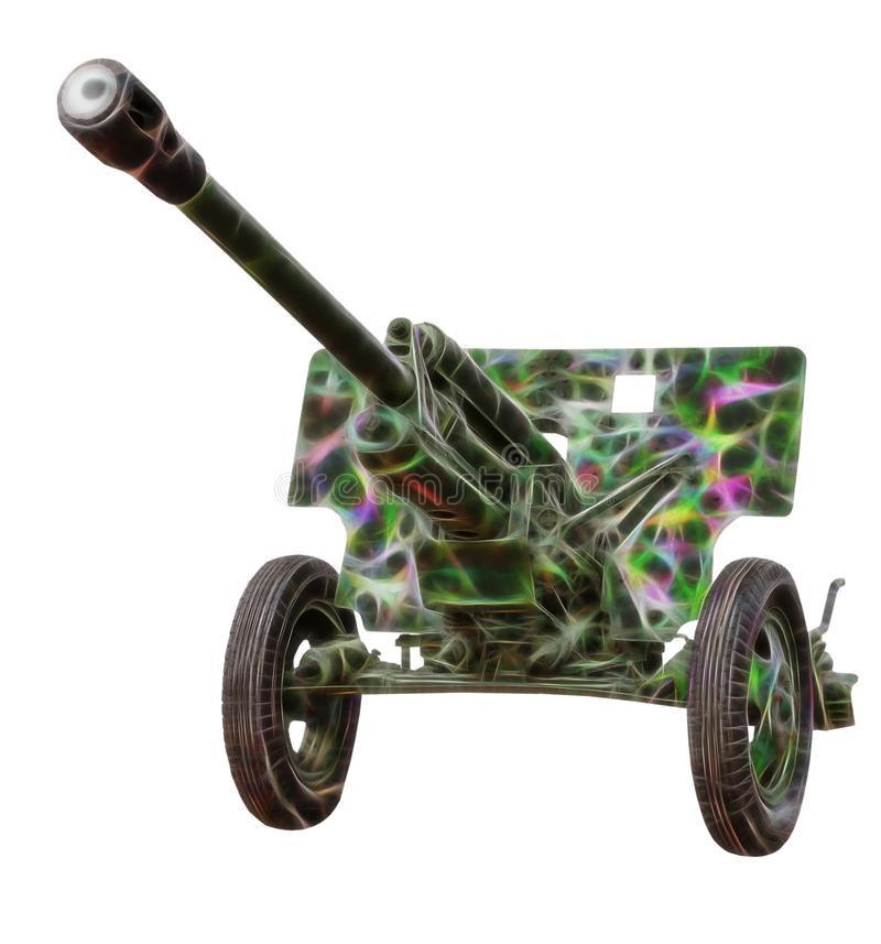 Immagine di frattale di vecchio cannone fotografia stock libera da diritti