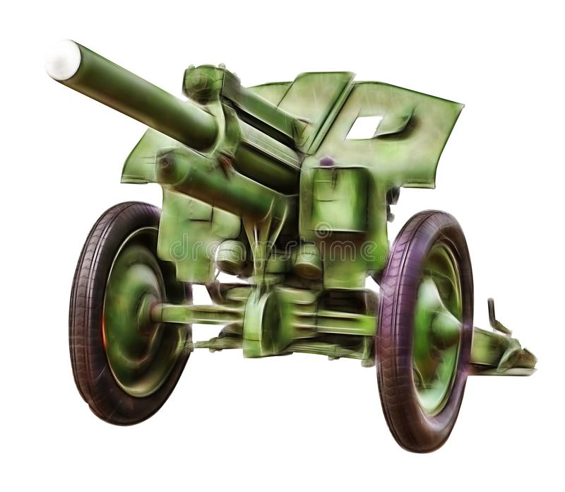 Immagine di frattale di vecchio cannone immagini stock libere da diritti