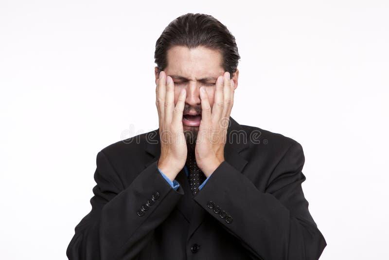 Immagine di giovane gridare dell'uomo d'affari immagini stock libere da diritti