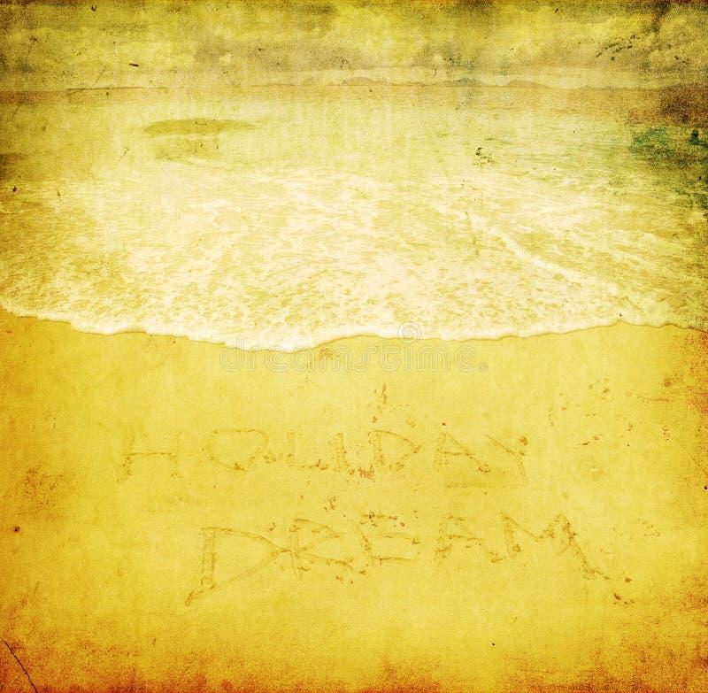Immagine di Grunge della spiaggia illustrazione di stock
